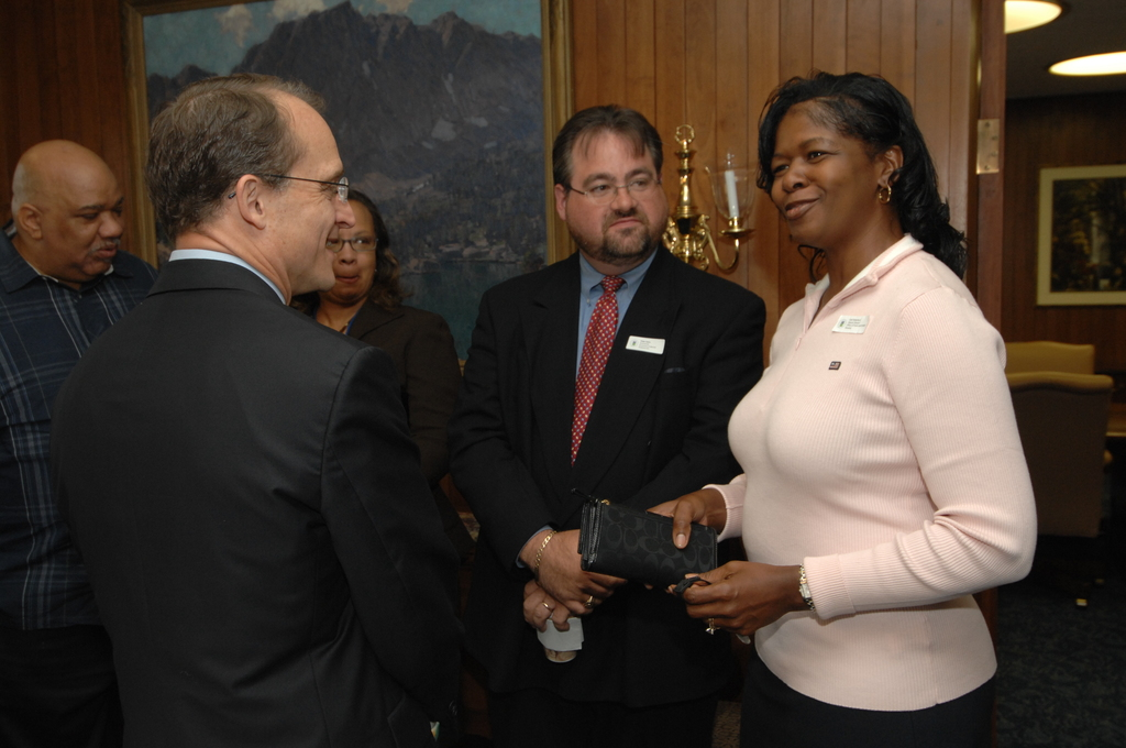 Secretary's Coffee with Staff - Coffee with HUD staff, hosted by Secretary Steve Preston, at HUD Headquarters