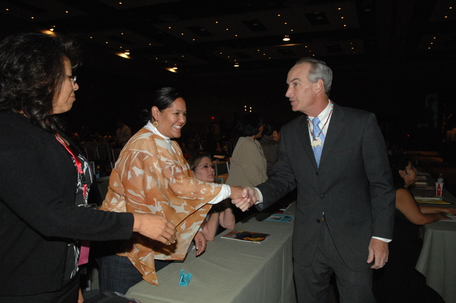 [Assignment: 48-DPA-10-20-08_SOI_K_BIA_NCAI] Secretary Dirk Kempthorne [at the Phoenix Convention Center, Phoenix, Arizona to address the 65th Annual Convention of the] National Congress of American Indians [48-DPA-10-20-08_SOI_K_BIA_NCAI_DOI_2488.JPG]