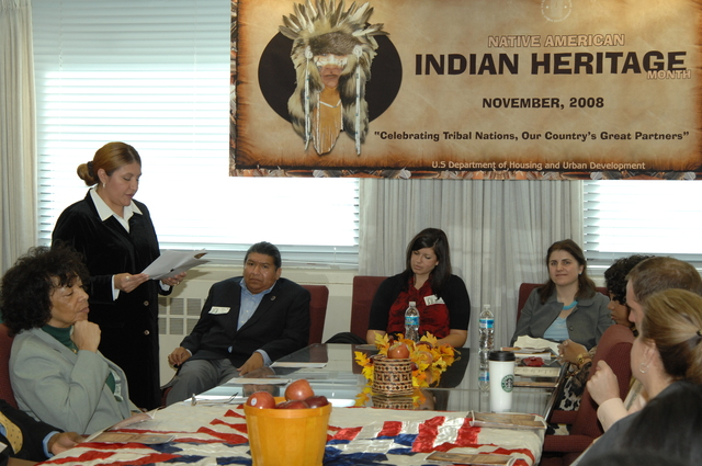 "Indian Heritage Month Program - Indian Heritage Month Opening Program at HUD Headquarters, ""Celebrating Tribal Nations, Our Country's Great Partners"" theme"