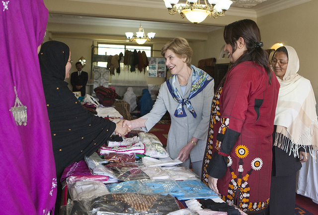 Mrs. Laura Bush Tours the Arzu and Bamiyan Women's Business Association in Bamiyan, Afghanistan
