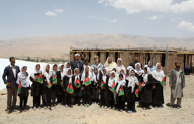 Mrs. Laura Bush Visits Ayenda Learning Center in Bamiyan, Afghanistan