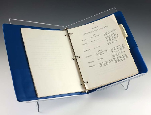 Blue Binder Containing the 1976 Briefing of the Vail Strategy