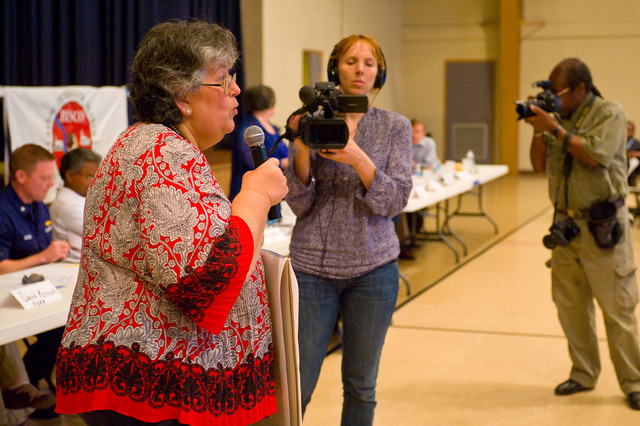 Office of the Administrator (Lisa P. Jackson) - Cocodrie, Louisiana and Oil Disaster Meeting in Dulac, Louisiana (BP Oil Spill) - USEPA photo by Eric Vance [412-APD-667-2010-05-13_Dulac_031.jpg]