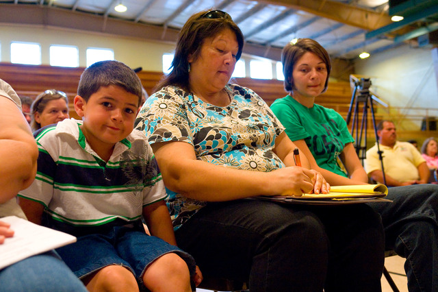 Office of the Administrator (Lisa P. Jackson) - Cocodrie, Louisiana and Oil Disaster Meeting in Dulac, Louisiana (BP Oil Spill) - USEPA photo by Eric Vance [412-APD-667-2010-05-13_Dulac_021.jpg]