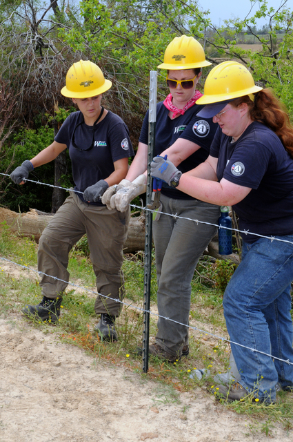 Severe Storm ^ Tornado - Lexington, Miss. , May 15, 2010 --  In Holmes County community of Ebenezer, AmeriCorps members of the Washington State Conservation Corps repair fences destroyed by the deadly tornado of April 24.  FEMA and AmeriCorps are partners in disaster response.  George Armstrong/FEMA