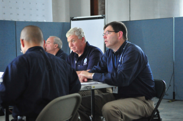 Flooding ^ Severe Storm - Lexington, Ky. , June 23, 2010 -- FEMA Deputy Administrator Richard Serino receives a briefing from FEMA and State Officials, regarding the ongoing recovery efforts in Kentucky. On May 11, President Obama declared a major disaster for Kentucky and individual assistance has been made available for 62 counties. FEMA/Brad Carroll