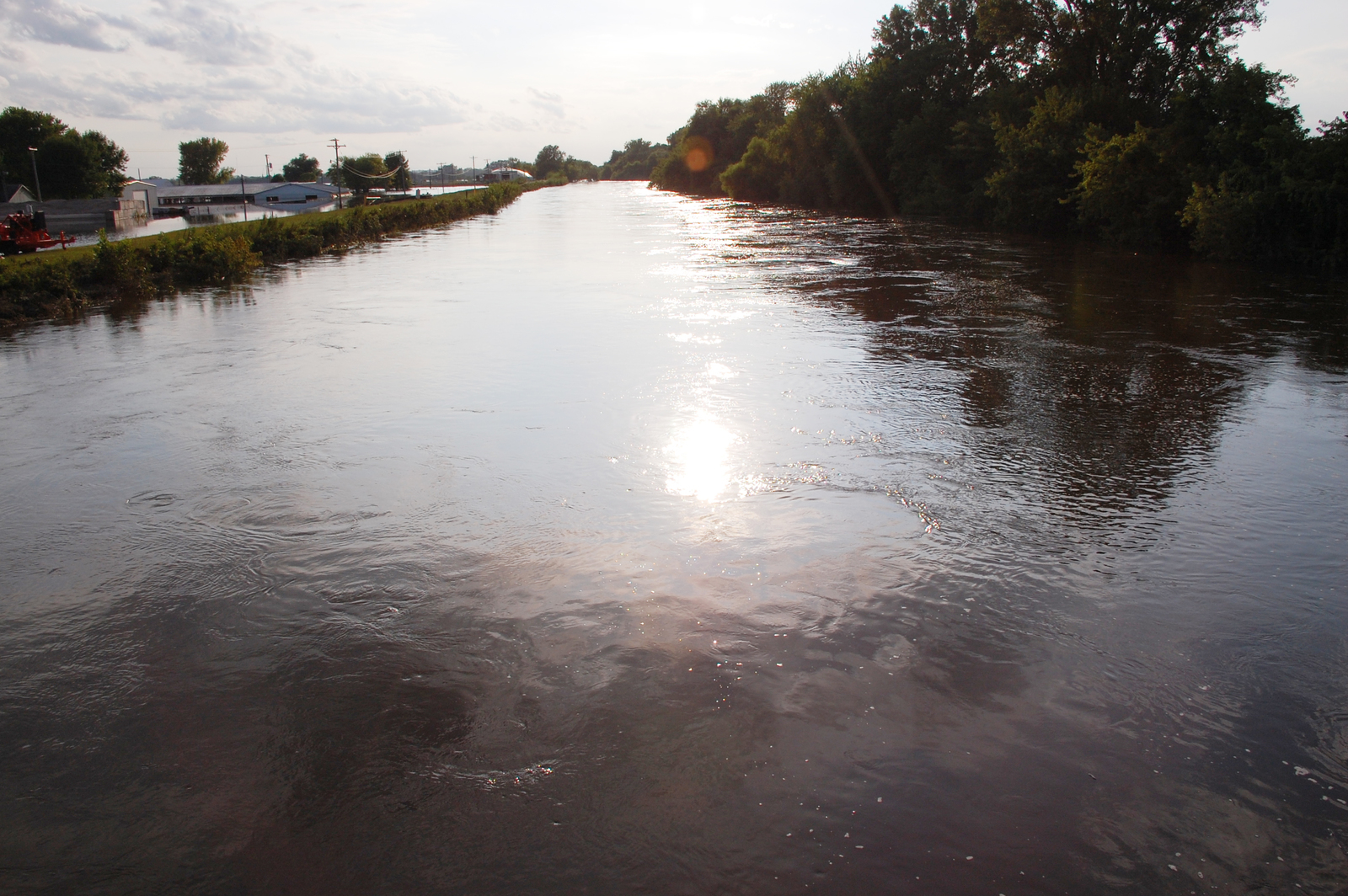Flooding Colfax Iowa August 16 2010 The South Skunk River At
