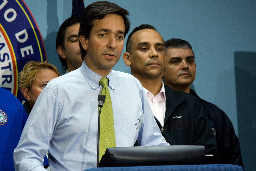 Hurricane/Tropical Storm - San Juan, Puerto Rico, August 30, 2010 --  Governor of Puerto Rico, Luis Fortuno address the press at the Puerto Rico Emergency Management Agency.  Governor Fortuno provided the latest news related to Hurricane Earl.  Photo by Yuisa Rios/FEMA