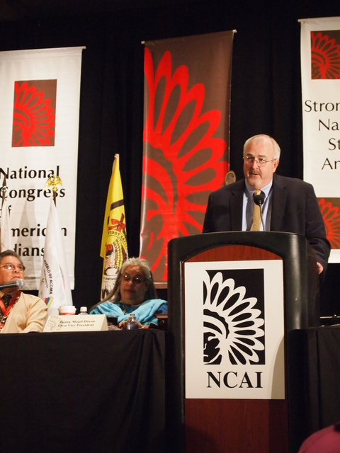 Albuquerque, N. M. , November 18, 2010 -- FEMA Administrator Craig Fugate delivers remarks at the 2010 National Congress of American Indians.