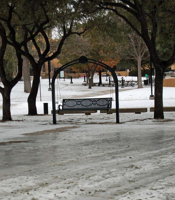 Winter Storm - Denton, Texas, February 3, 2011 -- This
