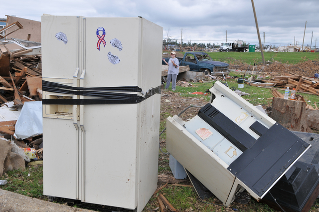 Tornado - Tuscaloosa, Ala. , May 14, 2011 -- Cleanup of the debris is happening in Alabama. Large appliances must be separated, along with construction material, electronics, hazardous waste, wood, and household garbage for proper removal. FEMA photo/Tim Burkitt