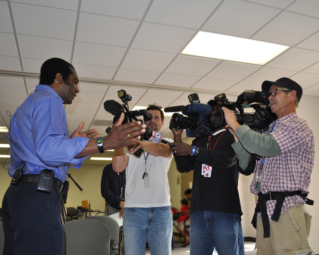 Flooding ^ Severe Storm - Memphis, Tenn. , May 18, 2011 --  FEMA Federal Coordinating Officer, W. Montague Winfield is interviewed by the local media.  The FCO makes himself available for questions while he is visiting Recovery Centers throughout Tennessee.  Marilee Caliendo/FEMA