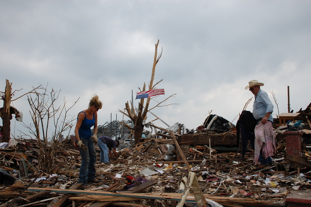Joplin, Mo. , May 24, 2011 -- Hundreds of houses, businesses, and a regional hospital were destroyed the evening of May 22nd in Joplin, MO.  FEMA, our federal partners, state and local government, and voluntary agencies are committed in trying to find appropriate housing options for residents affected by the recent tornadoes and severe weather.  Jace Anderson/FEMA