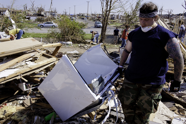 Tornado - Joplin, Mo. , June 4, 2011 -- Michael Padilla is one of 11,000 registered volunteers helping out in Joplin. Volunteers can register at Joplin's Volunteer Reception Center on the Missouri Southern State University campus. Steve Zumwalt/FEMA