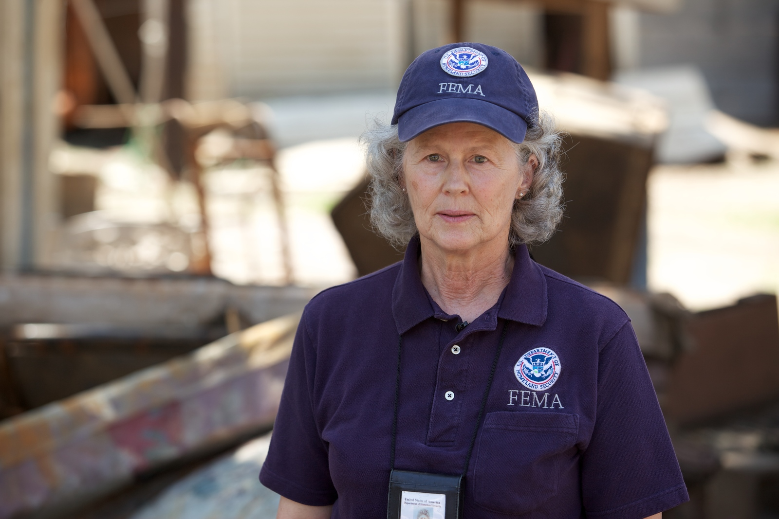 Flooding - Vicksburg, Miss. , June 23, 2011 -- FEMA Mitigation Specialist Martha Mills visits the damaged community in Vicksburg, Mississippi weeks after the water has receded. FEMA stays on the ground months after the initial disaster to assist businesses and residents to get the assistance they need.