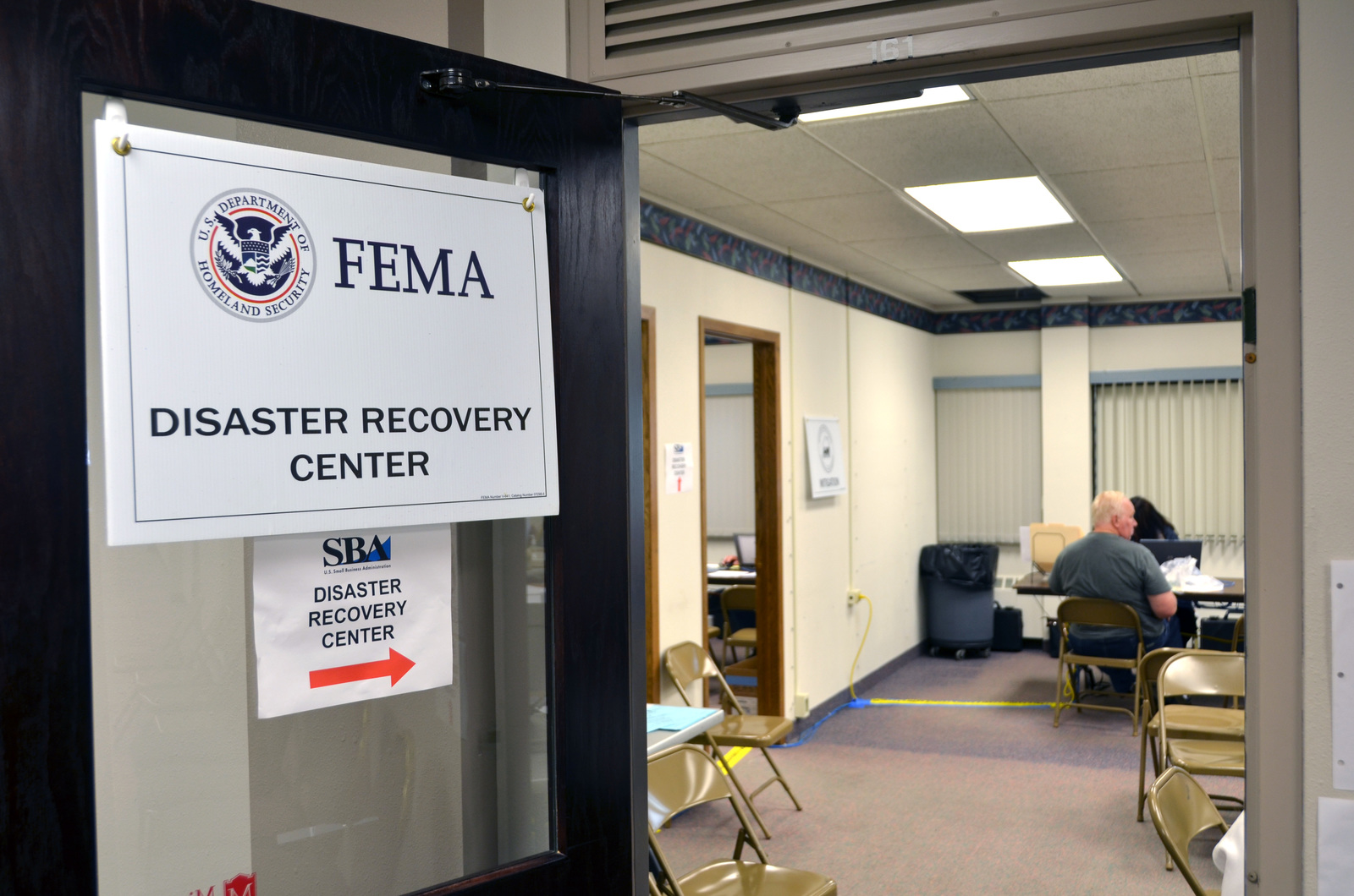 Flooding - Minot, N. D. , July 6, 2011 -- Disaster Assistance Center in Minot, North Dakota. FEMA is supporting the emergency management team in providing disaster assistance to those affected by the flooding. Photo by: David Valdez/FEMA