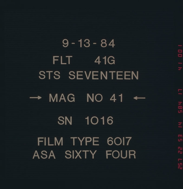 41G-41-001 - STS-41G - Title Slate