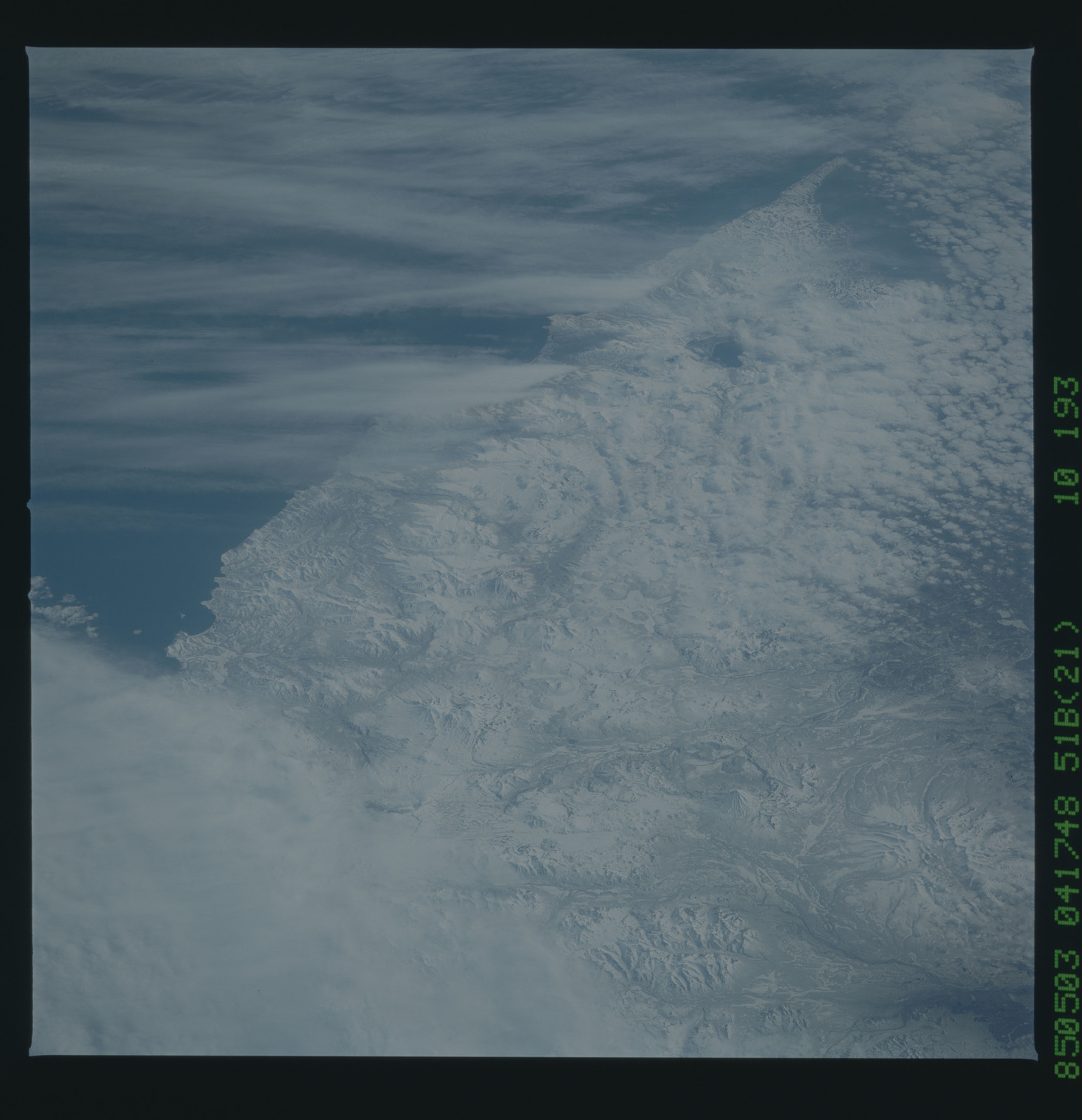 51B-52-091 - STS-51B - STS-51B earth observation