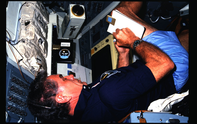 51F-09-019 - STS-51F - 51F crew activities