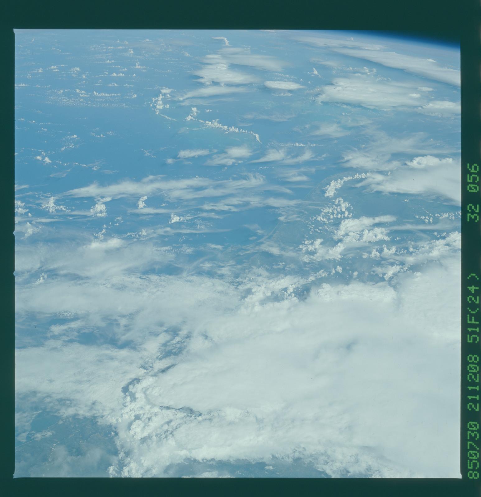 51F-32-056 - STS-51F - 51F earth observations