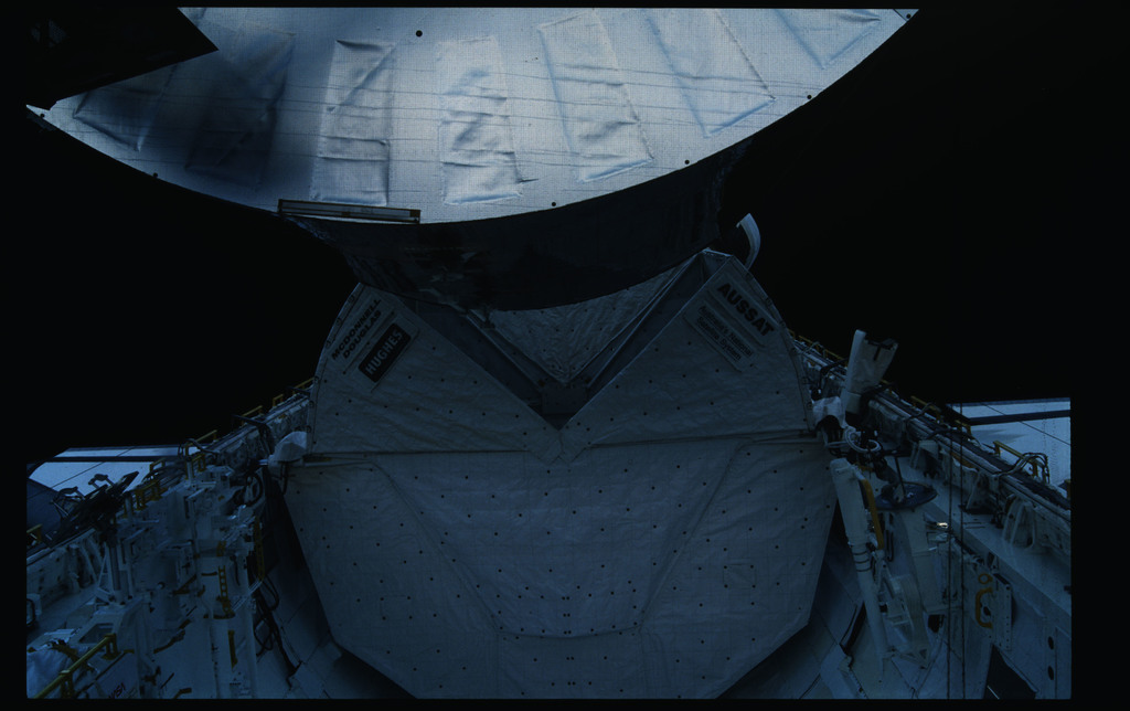 51I-11-036 - STS-51I - Fisher and van Hoften EVA in payload bay