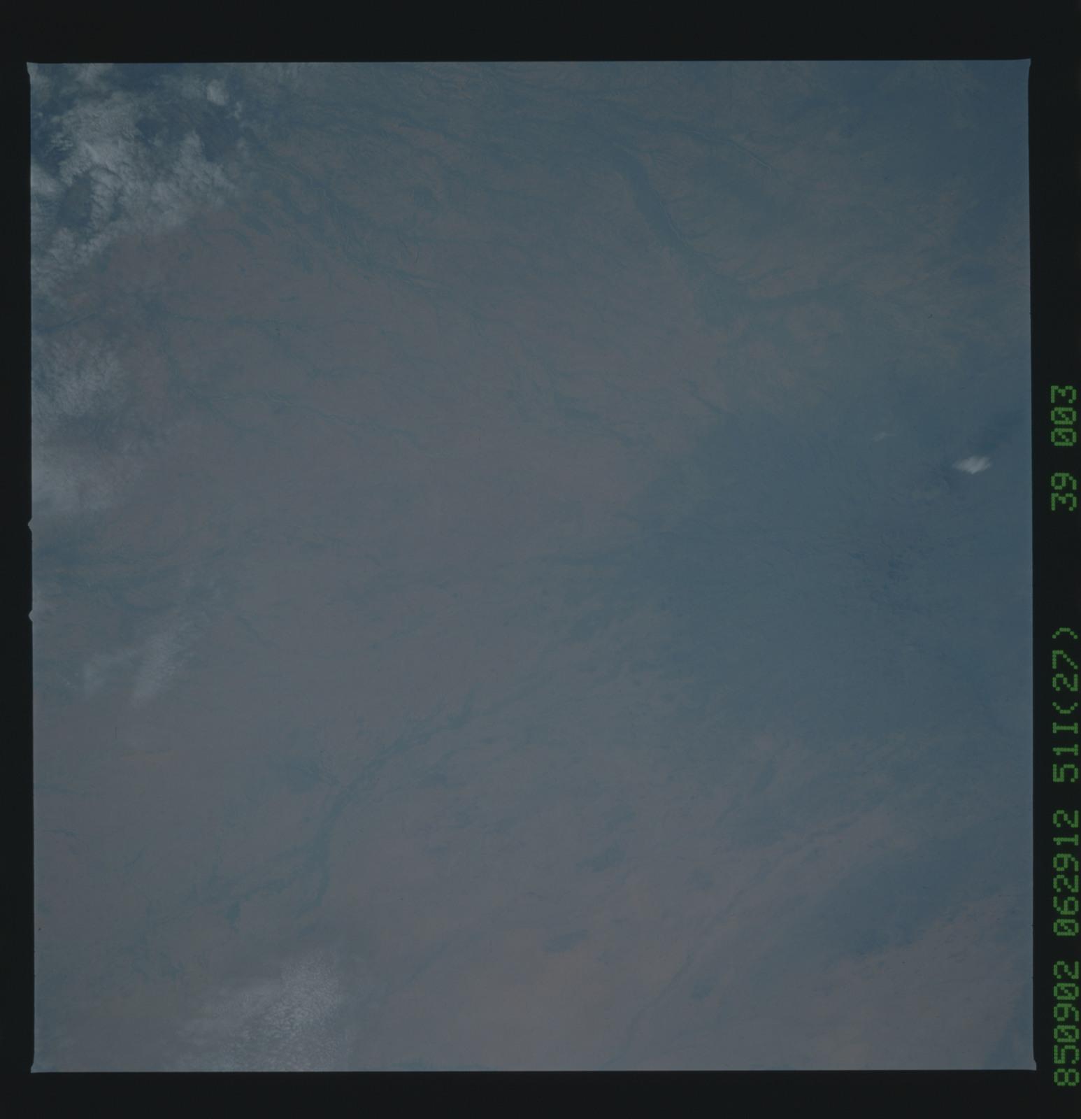 51I-39-003 - STS-51I - STS-51I earth observations