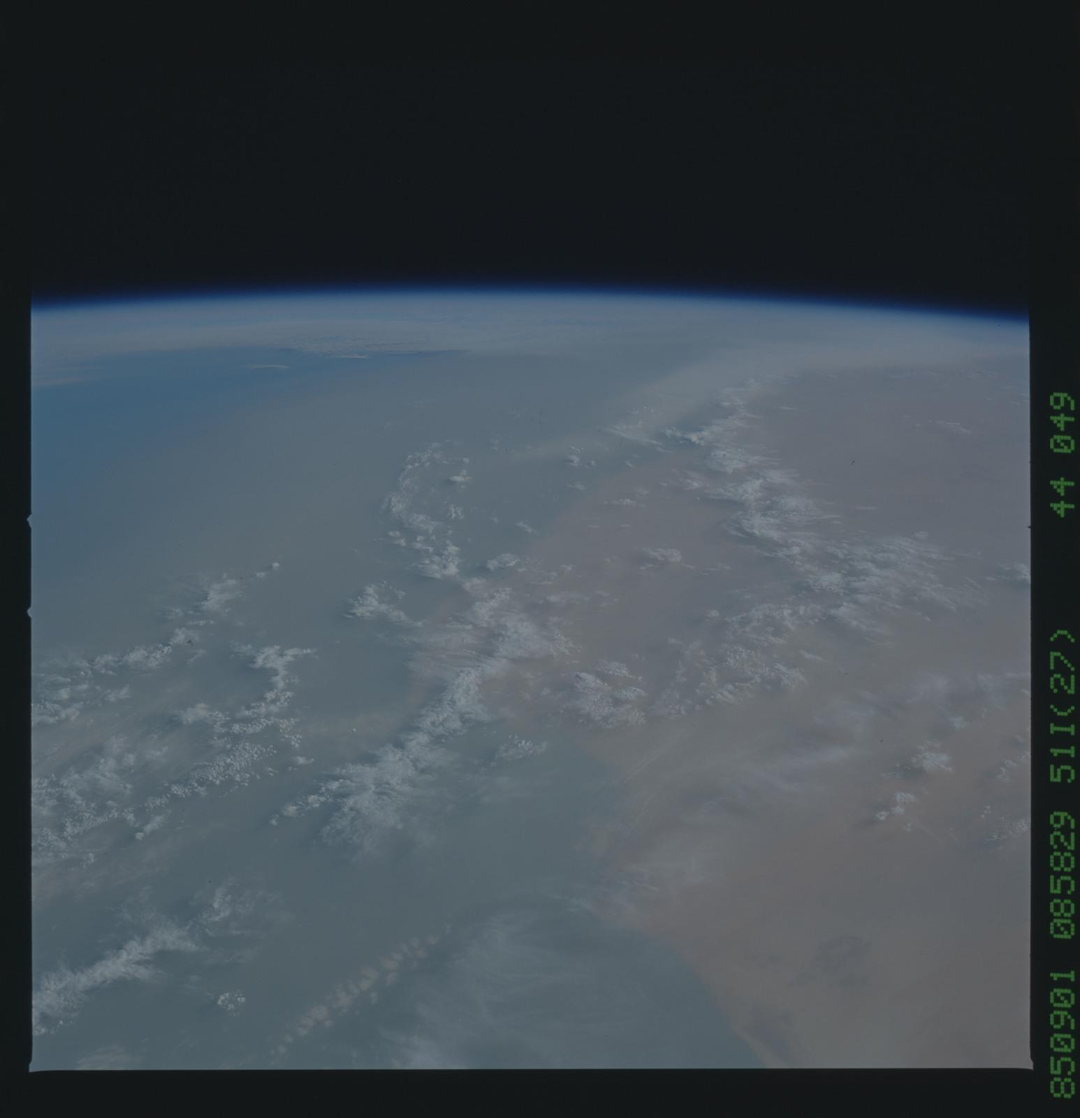 51I-44-049 - STS-51I - STS-51I earth observations
