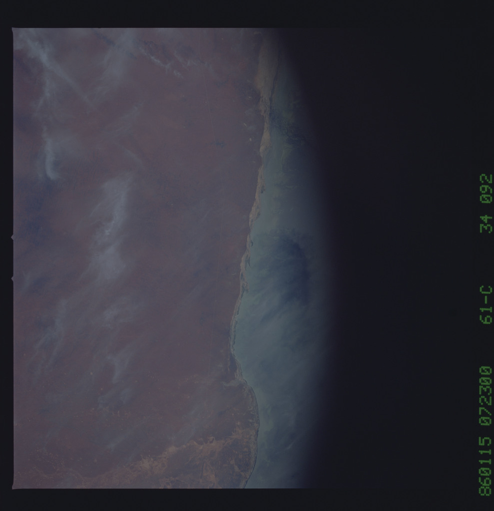 61C-34-092 - STS-61C - STS-61C earth observations