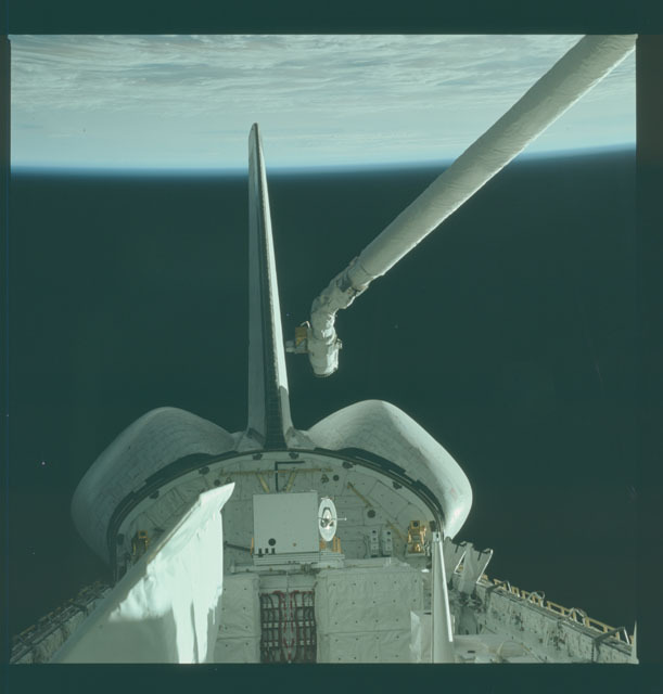 S02-12-837 - STS-002 - View of RMS and OSTA-1 experiments in Columbia's payload bay