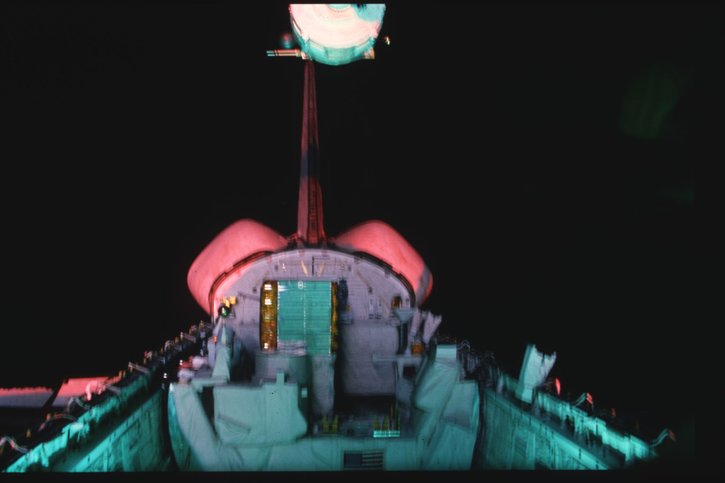 S03-19-042 - STS-003 - Overall view of payload bay taken from the aft flight deck viewing windows
