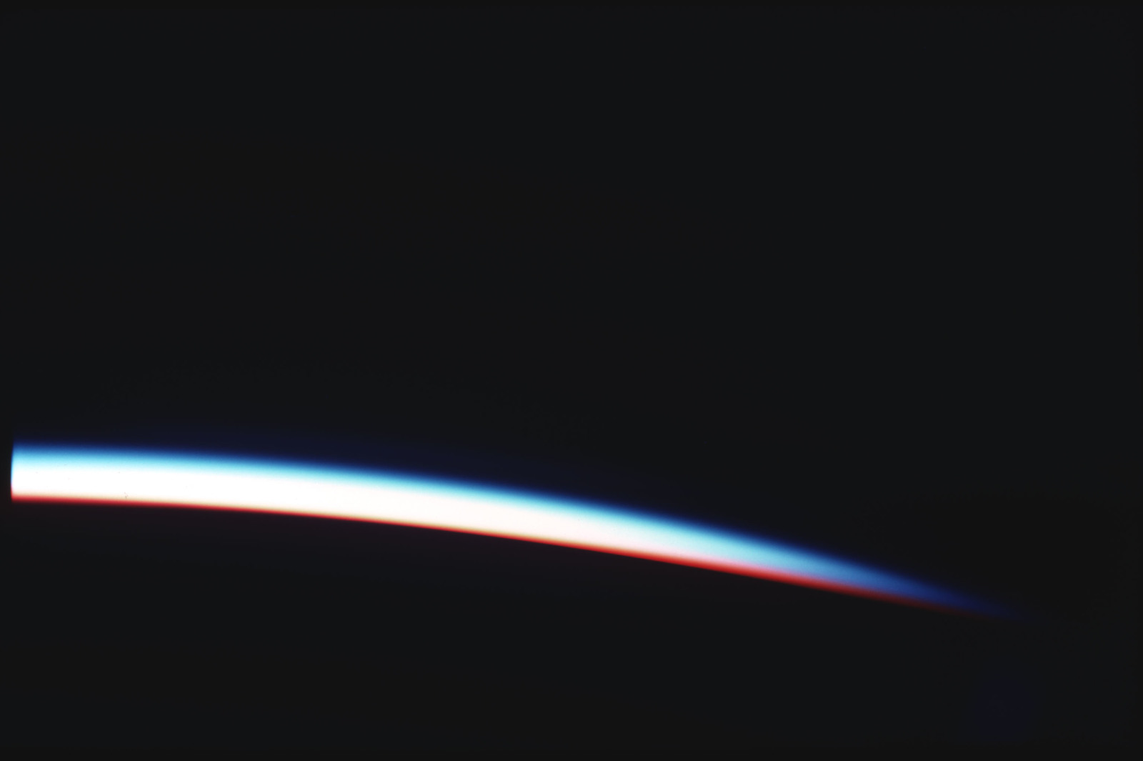 S03-31-296 - STS-003 - Earth limb terminator at sunrise