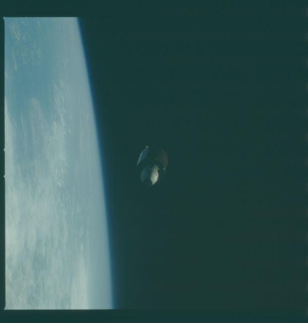 S07-23-1216 - STS-007 - Deployement of the PALAPA-B1 satellite