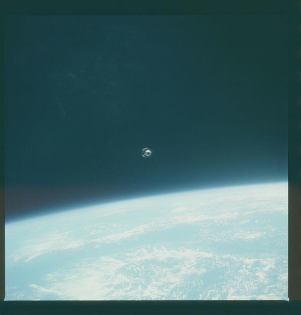 S07-23-1227 - STS-007 - Deployement of the PALAPA-B1 satellite