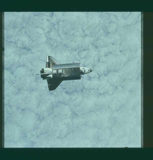 S07-32-1667 - STS-007 - View of the shuttle Challenger from the SPAS-01 satellite