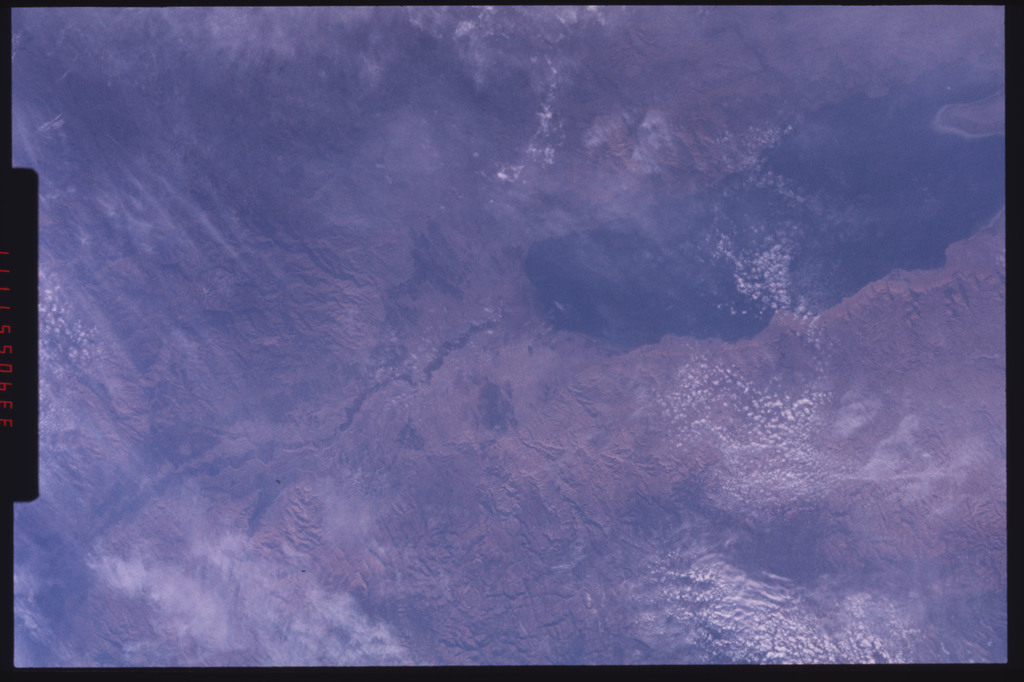 S09-201-3342 - STS-009 - Earth view of the Dead Sea and Jordan River during STS-9