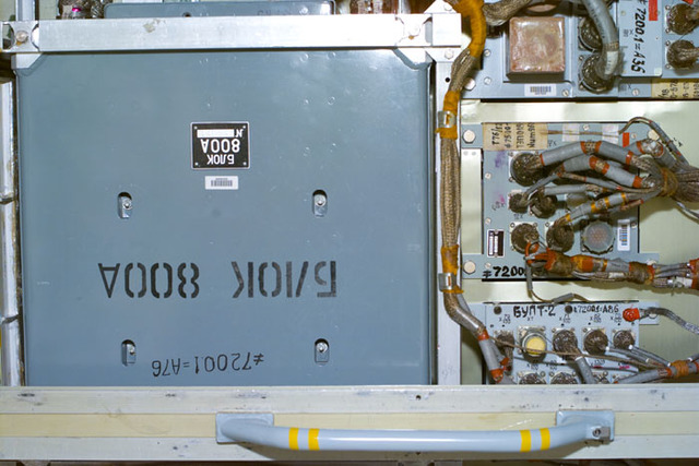 S106E5196 - STS-106 - Battery current converter in Zvezda during STS-106