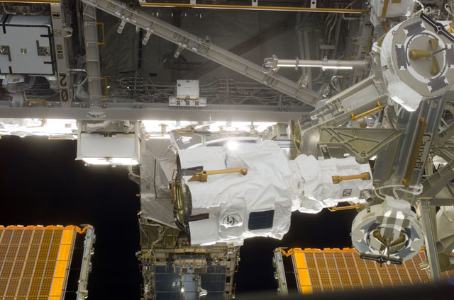 S111E5620 - STS-111 - MBS POA positioned on the S0 truss taken during STS-111 UF-2