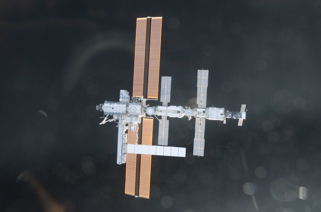 S112E05845 - STS-112 - Flyaround view of ISS nadir sides