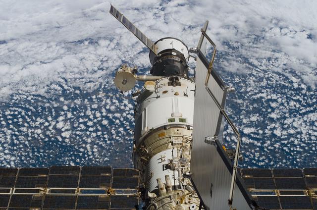 S114E6200 - STS-114 - Progress docked to the Zvezda Service module