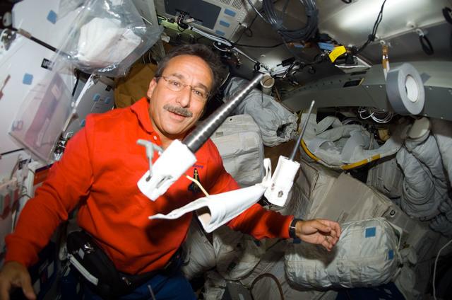 S114E6948 - STS-114 - Camarda on middeck