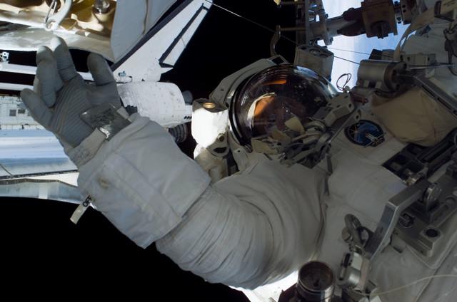 S115E05843 - STS-115 - Burbank prepares the SARJ on the P3 - P4 Truss Segment