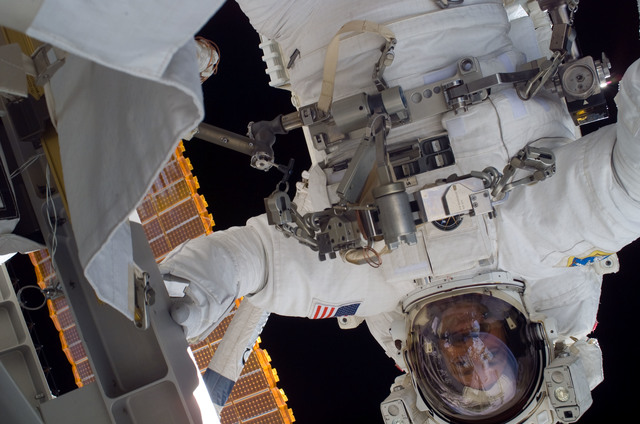 S115E05850 - STS-115 - Burbank prepares the SARJ on the P3 - P4 Truss Segment