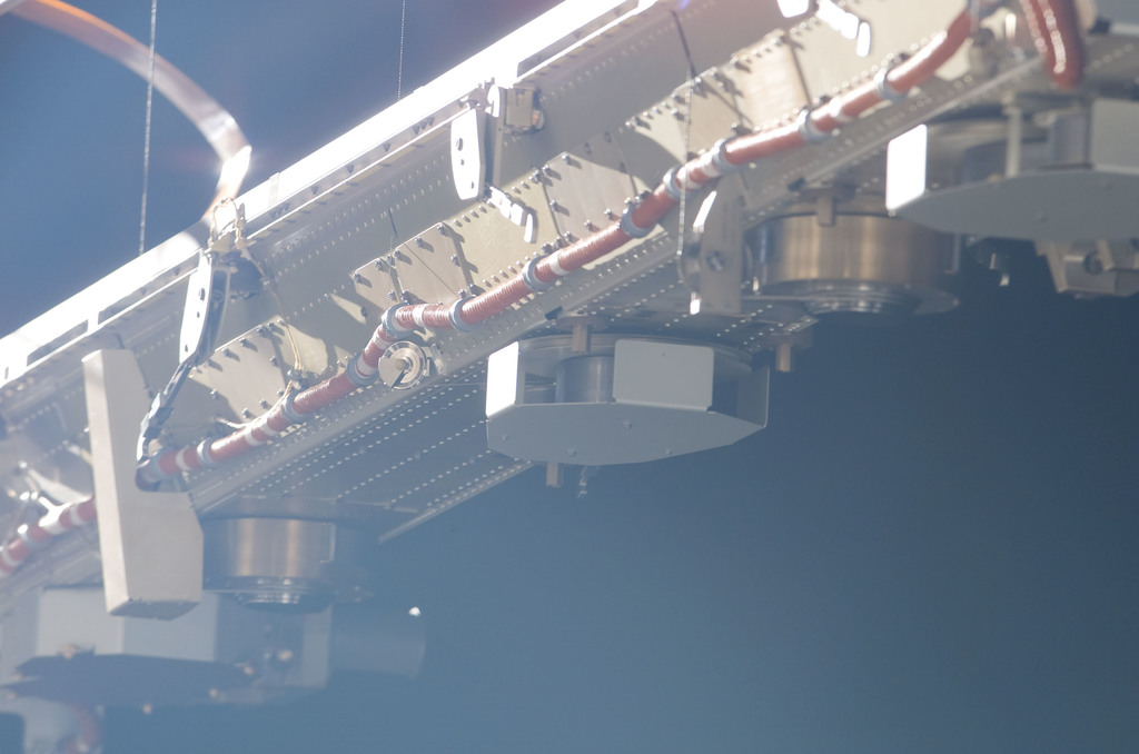 S116E06876 - STS-116 - Backside of the INBD Blanket Boxes on the P6 SAW during EVA 4