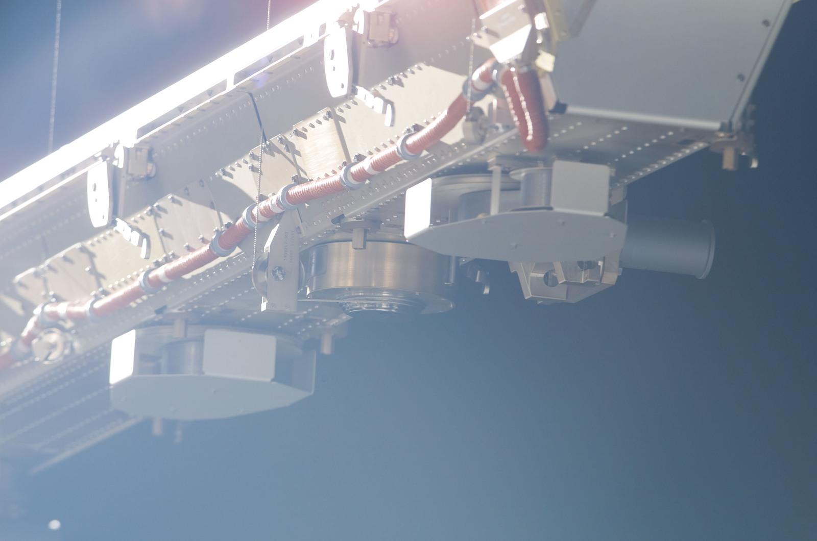S116E06877 - STS-116 - Backside of the INBD Blanket Boxes on the P6 SAW during EVA 4