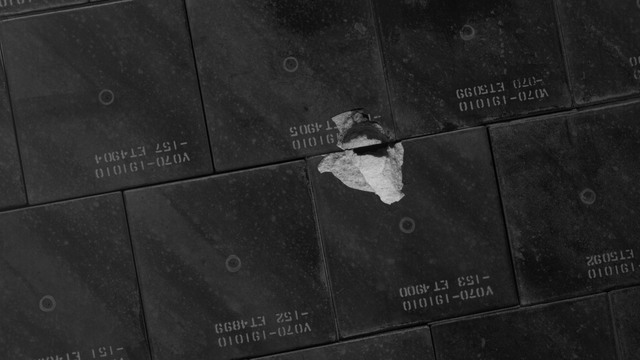 S118E06433 - STS-118 - IDC Survey Test of Tile Damage taken during STS-118 Mission
