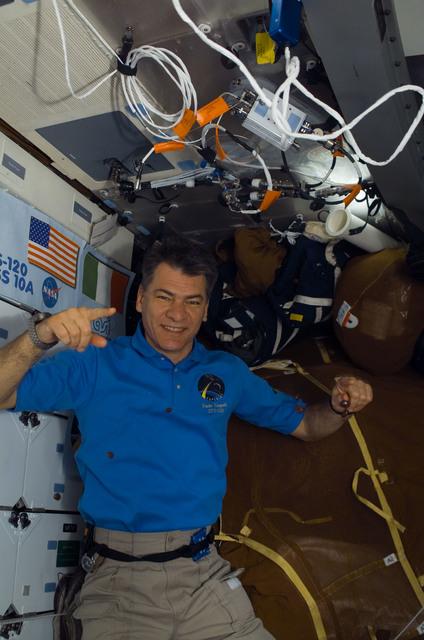 S120E007219 - STS-120 - Nespoli on middeck