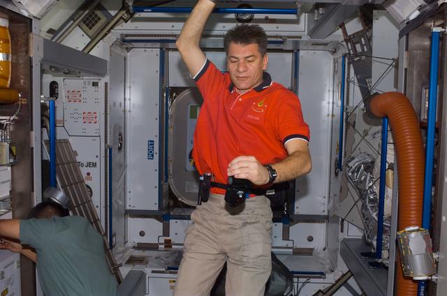 S120E007601 - STS-120 - Nespoli in the Node 2 / Harmony module
