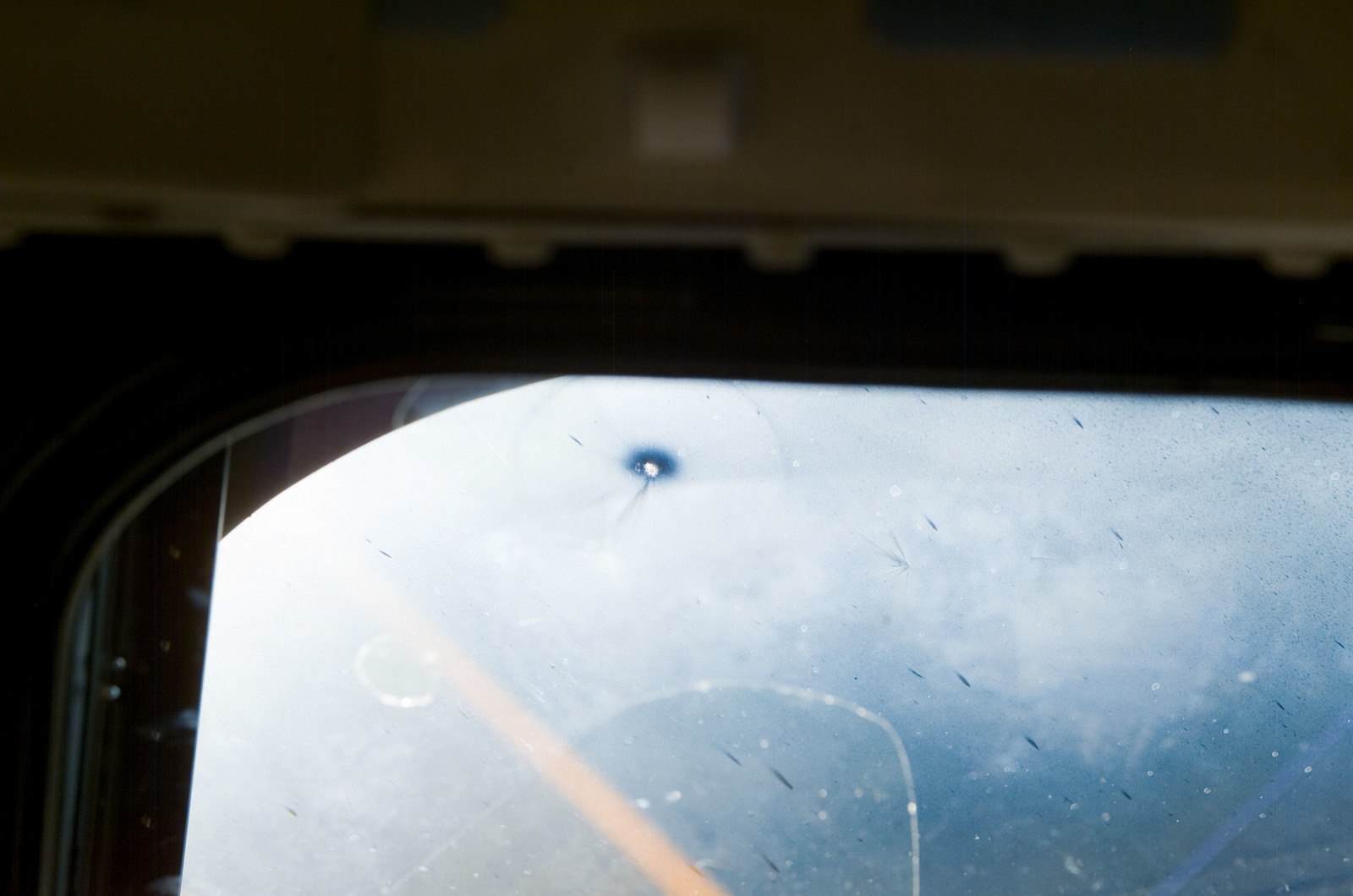 S120E008302 - STS-120 - View of window on Discovery flight deck