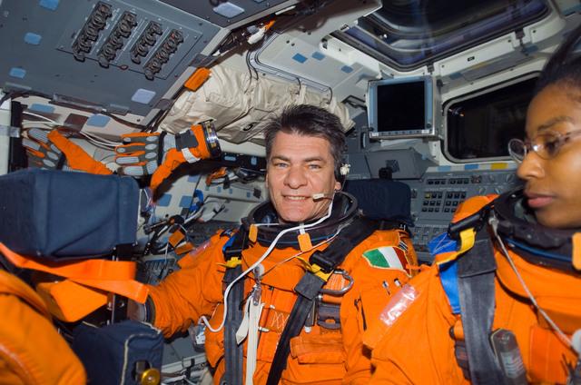 S120E010212 - STS-120 - Nespoli on the aft flight deck