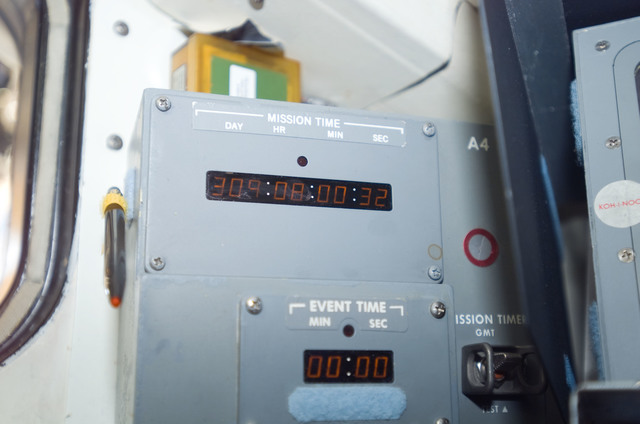 S120E010619 - STS-120 - Panel  A4 mission timer on aft flight deck